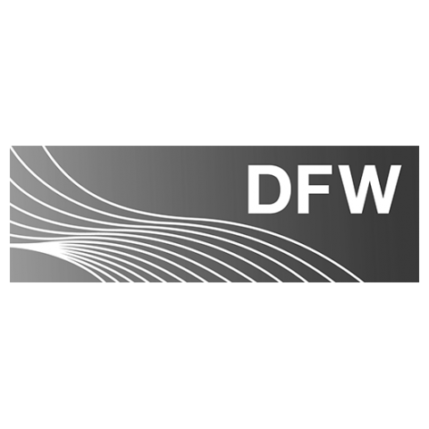 Logo DFW, black & white