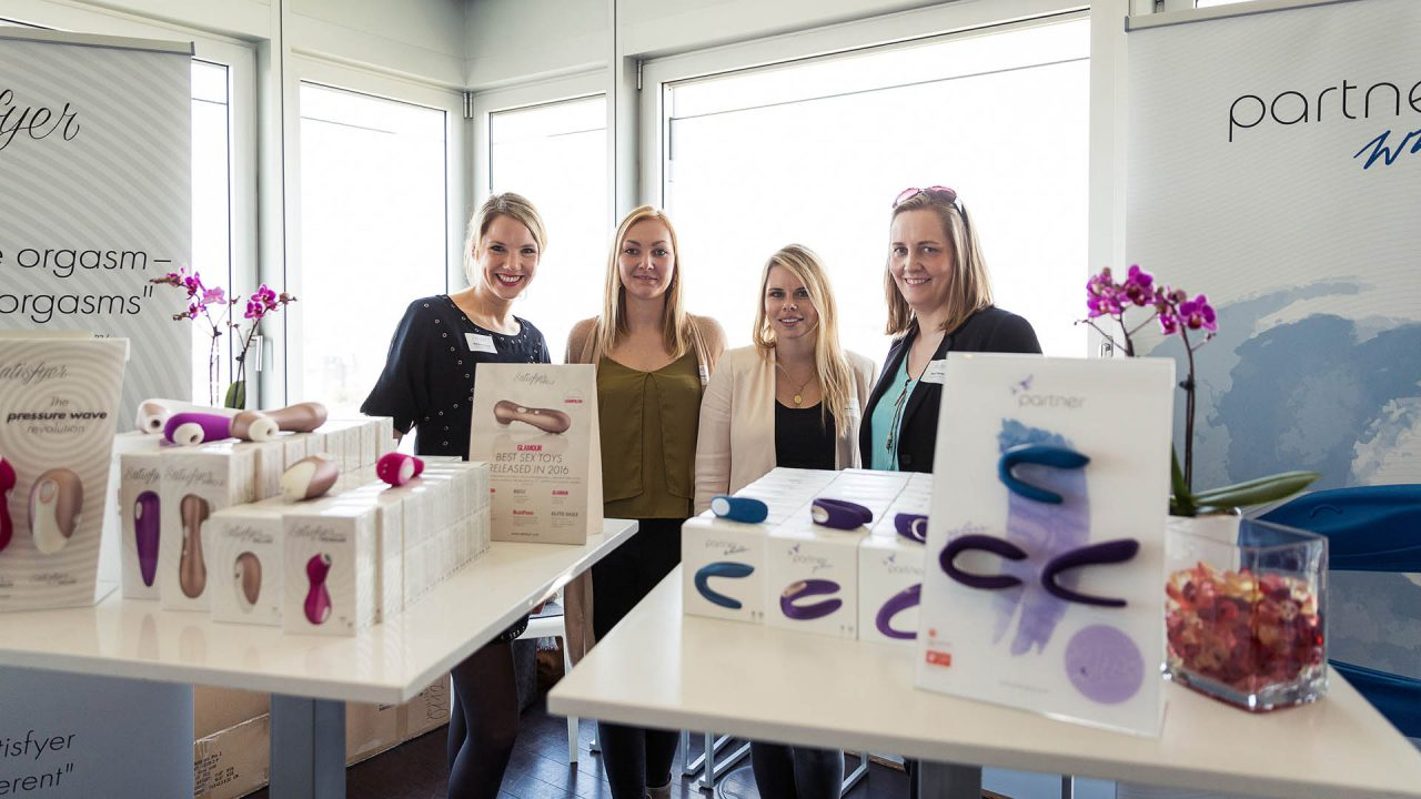 "Webportalis ""All-in-One Lifestyle-Event"" Satisfyer und partner, Stefanie Krause, Elena Finke, Sandra Morgott, Katja Kleinau (April 2017)"