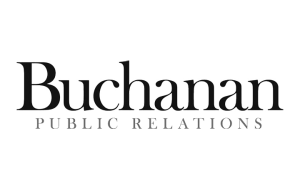Logo Buchanan Public Relations, black & white