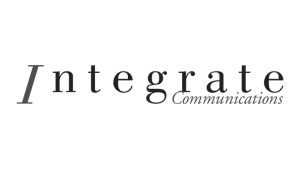 Logo Integrate Communications, black & white