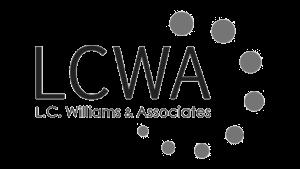 Logo L.C. Williams Associates, black & white