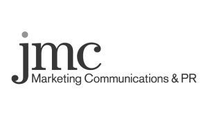 Logo jmc Marketing Communications, black & white