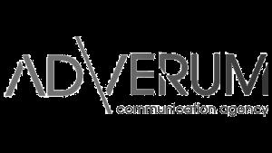 Logo AD VERUM, black & white