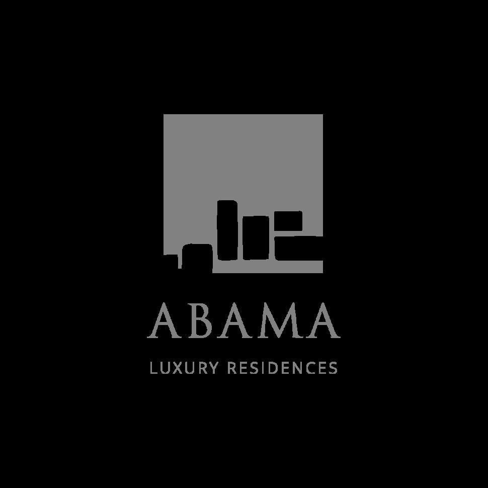 Logo Abama Luxury Residences, black & white