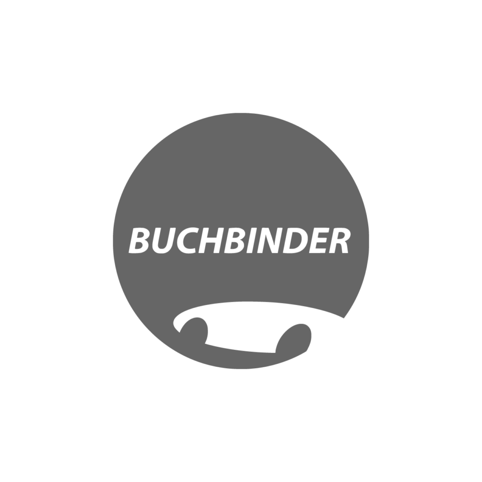 Logo Buchbinder, black & white